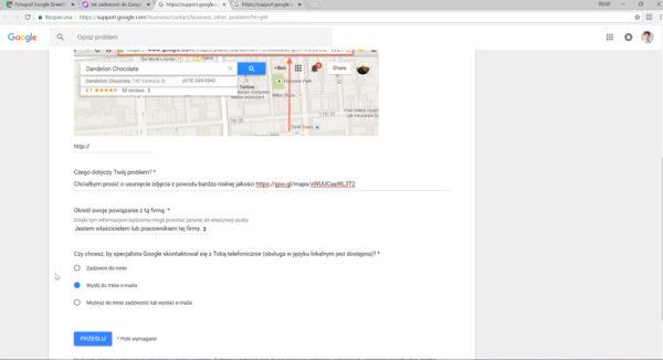 Jak usunac zdjecia z wizytowki firmy w Google Maps 4 600x326