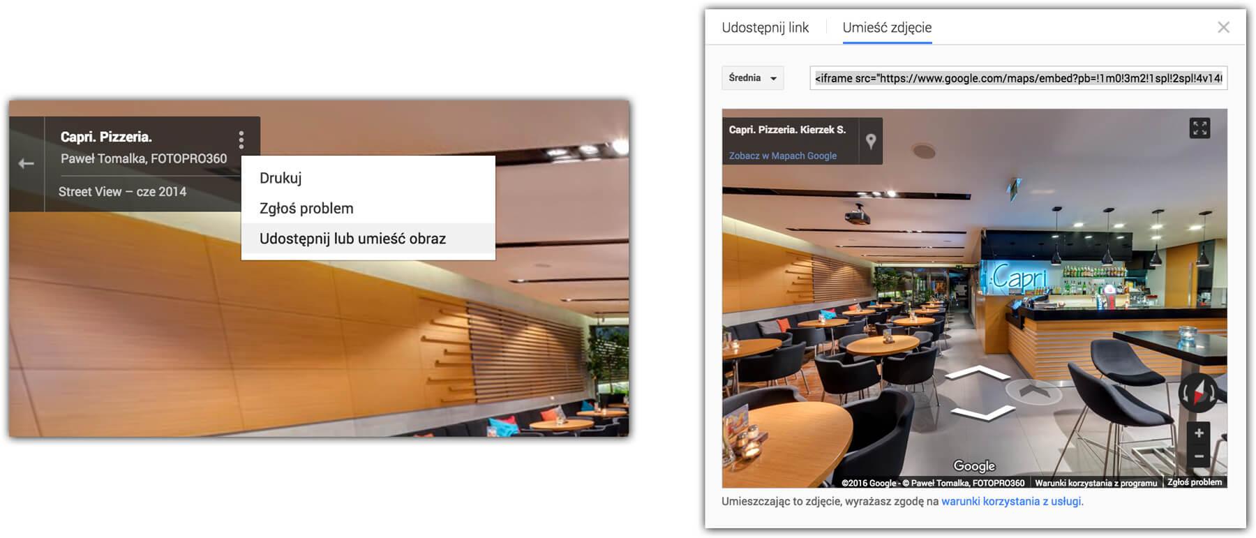 jak umiescić wirtualny spacer na stronie