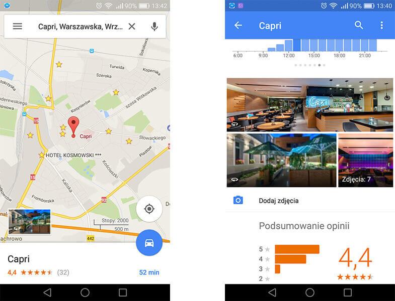 wirtualny spacer w mapach na telefonie