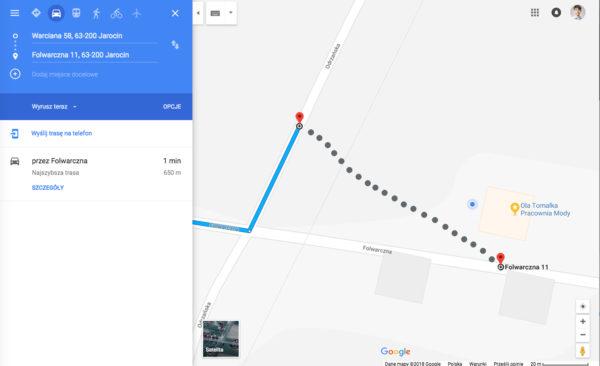 Jak zglosic blad nawigacji w Mapach Google Bledne wskazowki dojazdu 4 600x366