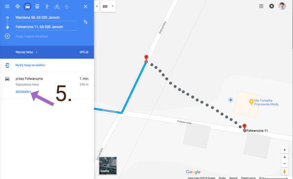 Jak zglosic blad nawigacji w Mapach Google Bledne wskazowki dojazdu 5 600x366