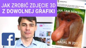 Jak zrobić zdjęcie z efektem 3D z dowolnej grafiki jako post Facebook 300x169